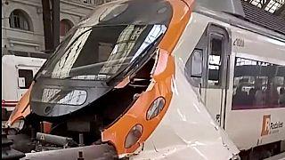 Barselona'da tren kazası: En az 44 yaralı
