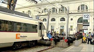 İspanya'da tren istasyondaki tampona çarptı: 48 yaralı