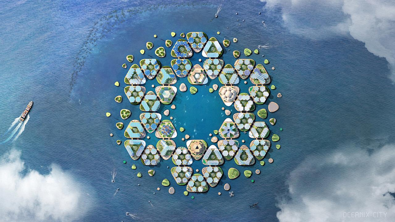 This floating city concept is one way to cope with climate change