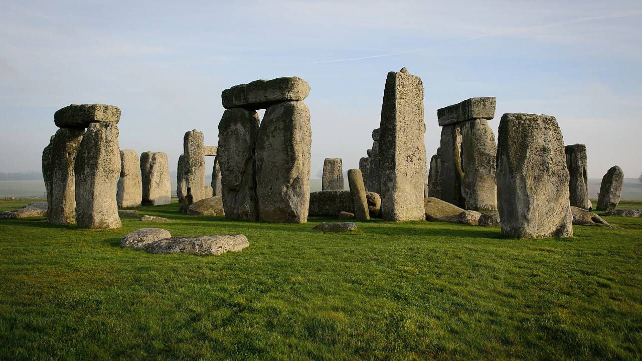 Image: The prehistoric monument of Stonehenge, a world heritage site, near