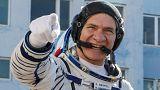 Trois hommes en route vers l'ISS