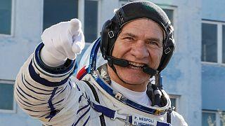 Üç astronot uzaya ulaştı