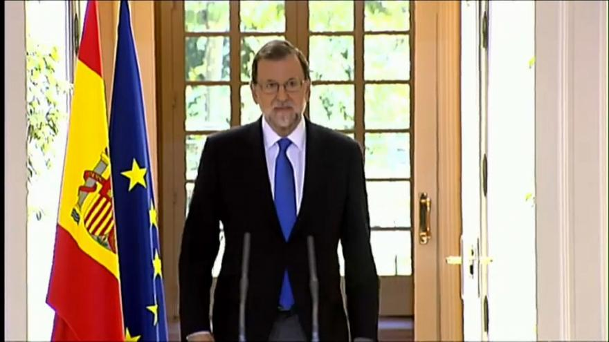 """Rajoy afirma que """"no habrá referéndum"""" en Cataluña el uno de octubre"""