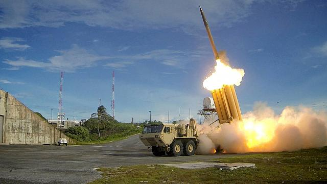 North Korea TV shows ballistic missile launch