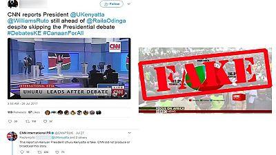 Fake news imitating foreign media reports hit Kenya elections