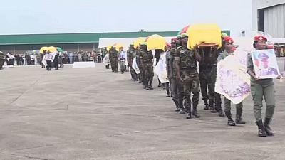 Le Cameroun rend hommage au victime du naufrage d'un navire militaire