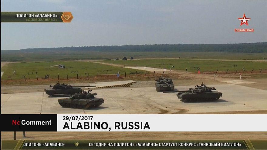 """Подмосковье: """"танковый биатлон"""""""