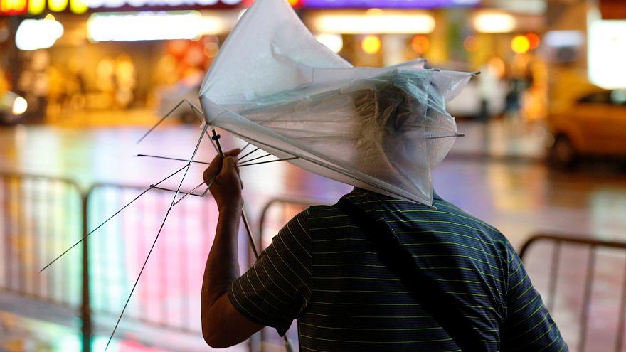 "Над Тайванем пронёсся тайфун ""Несат"""