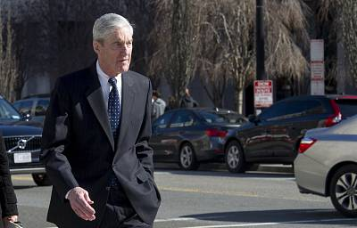 Special Counsel Robert Mueller walks to his car after attending services at St. John\'s Episcopal Church, across from the White House, in Washington, Sunday, March 24, 2019.