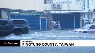 Cina flagellata da violenti piogge