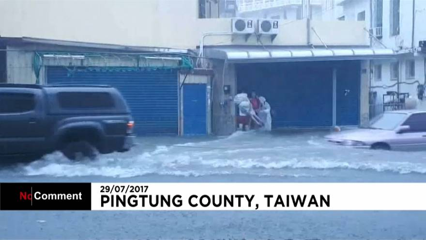 Taiwan and cities in southern China hit by extreme weather
