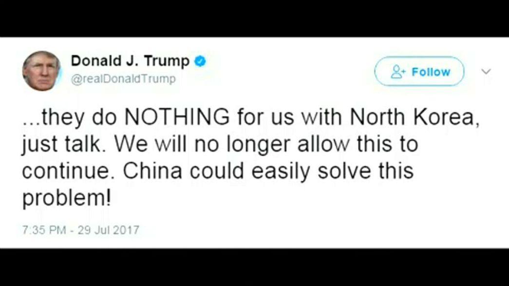 Tump attacca Cina per inazione con Pyongyang