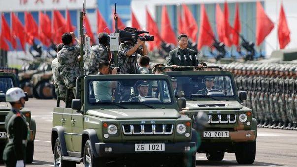 Große Militärparade in China