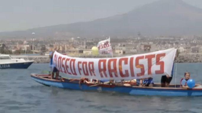 """Seeblockade: Catania wehrt sich gegen das """"Schiff der Schande"""""""