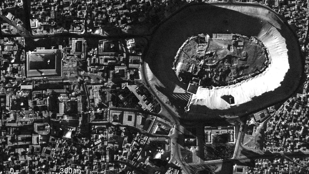 Image: An aerial shot of Aleppo, Syria, taken by a U-2 spy plane in 1959.