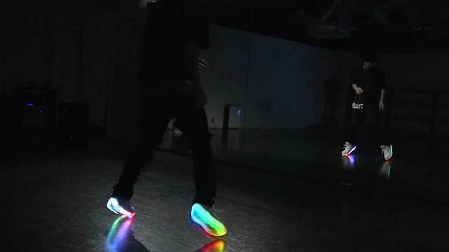 LED shoes take to the dance floor