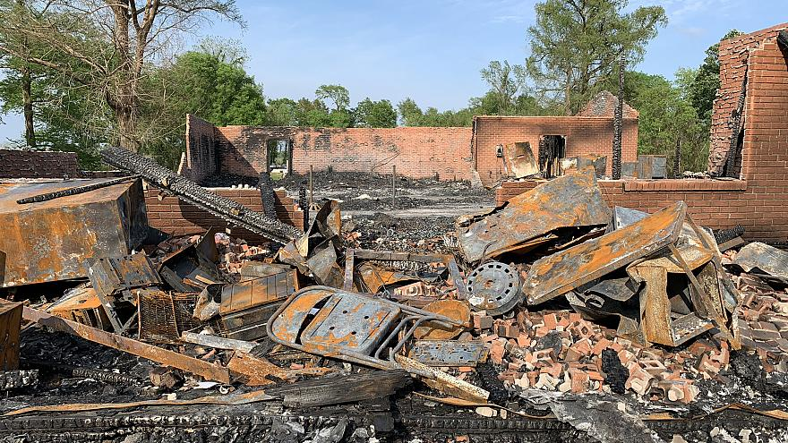 St. Mary's Church in Louisiana was the first to burn.