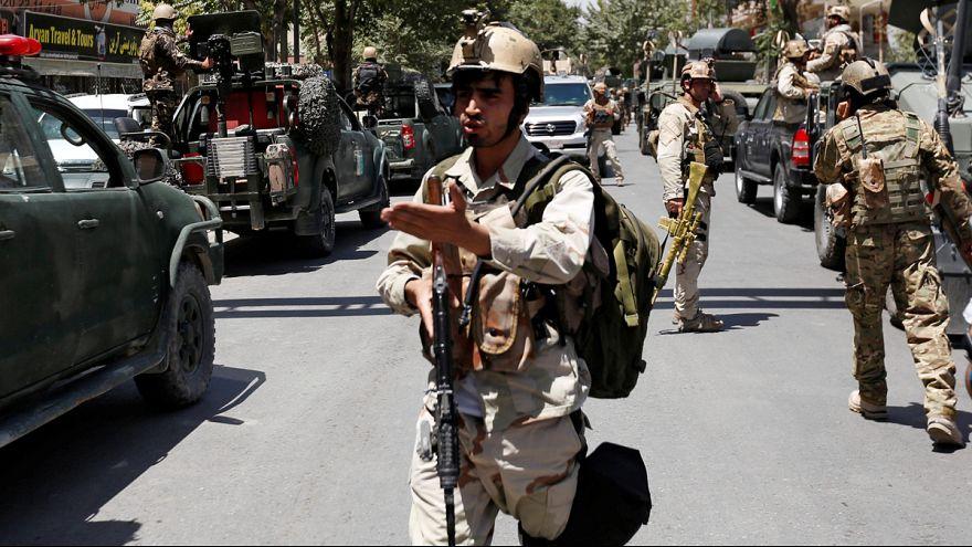 گزارش تصویری؛ حمله افراد مسلح به سفارت عراق در کابل