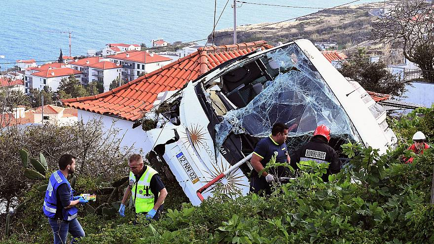 Image: PORTUGAL-ACCIDENT-TOURIST-BUS