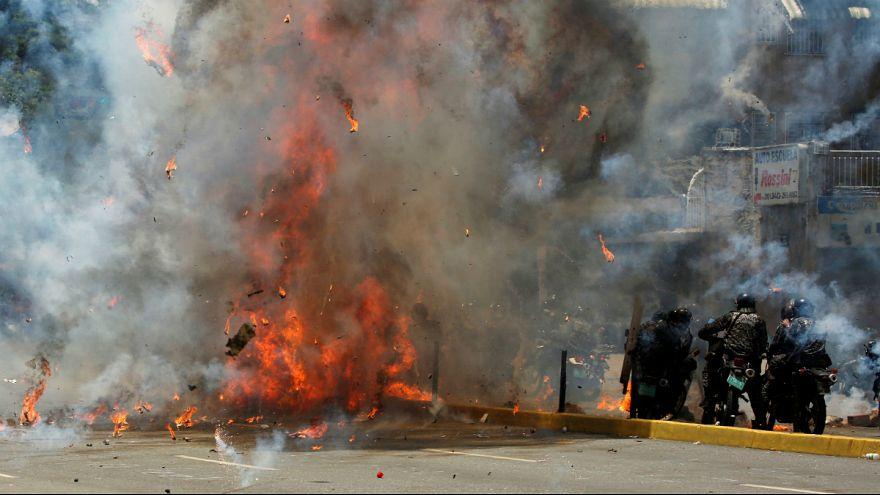Hatalmas robbanás Caracasban