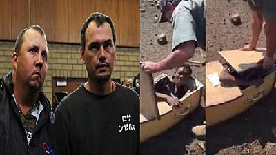 White farmers who forced black S. African into a coffin plead not guilty
