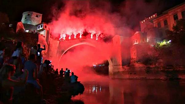 Festivities follow Mostar bridge-jumping contest