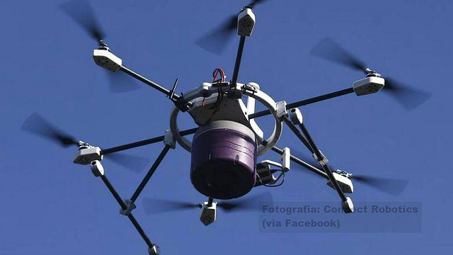 Drone lusófono até refeições quentes entrega