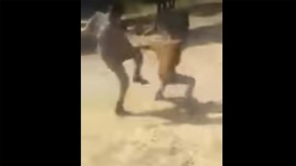 Turkish soldiers arrested after video shows abuse of refugees