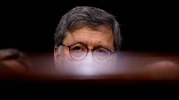 Image: William Barr testifies at his Attorney General confirmation hearing