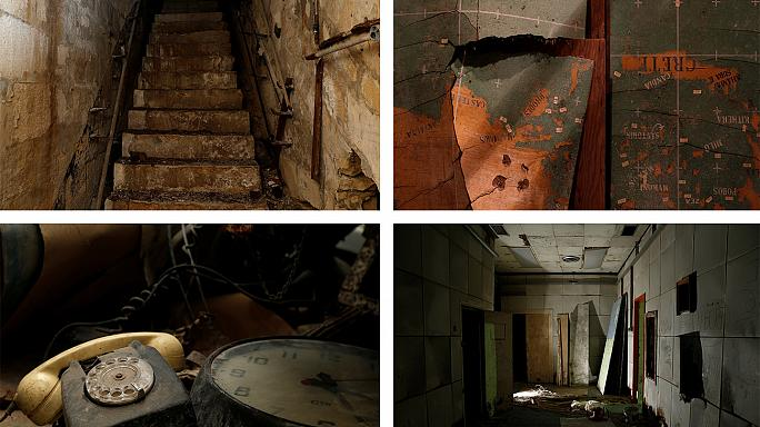 Amid dust and rust lie ruins of World War II command centre