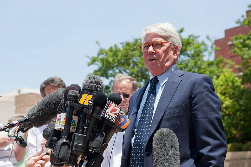 Greg Craig speaks to reporters in Winston-Salem, North Carolina, in June 2011.