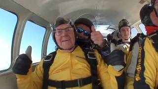 Britain versus America: Who has the oldest skydiver?