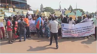 DRC: Protesters clash with police over electoral calendar