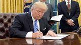 ترامپ تحریمهای فراگیر علیه ایران، روسیه و کره شمالی را امضا کرد