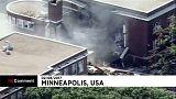 Explosão faz colapsar parte de uma escola em Minneapolis