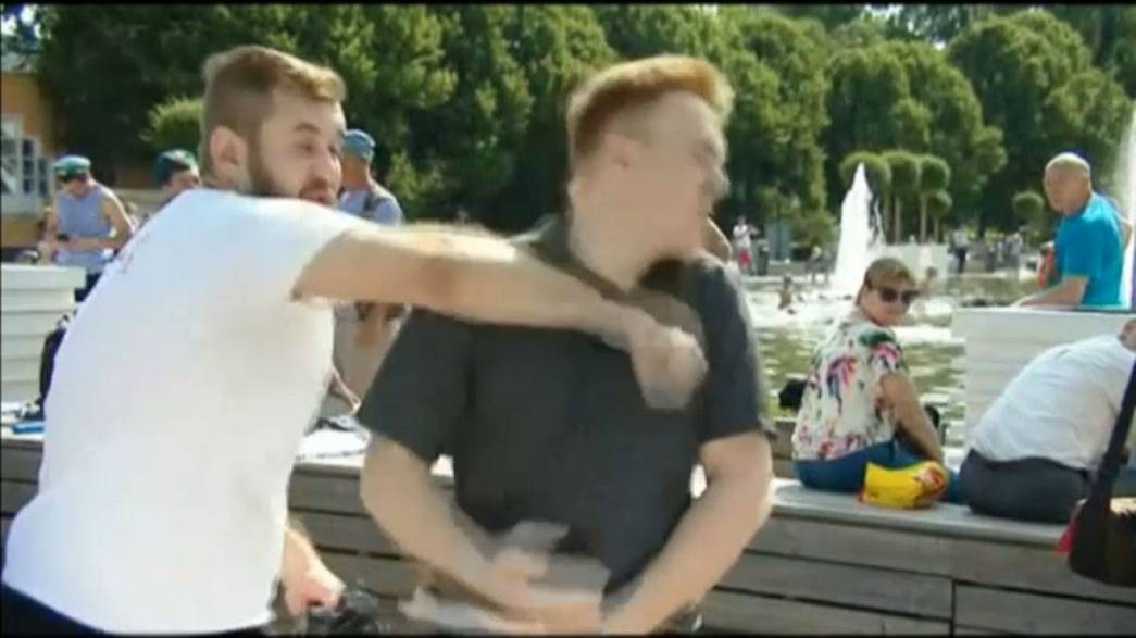Watch: TV reporter punched during live broadcast