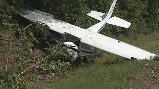 Dashcam captures plane crash on Texas highway