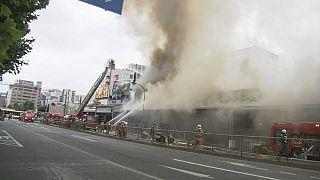 Fuego en el mayor mercado de pescado del mundo