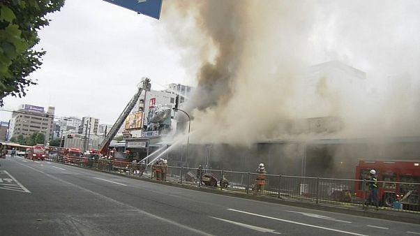 Großbrand bei Fischmarkt in Tokio