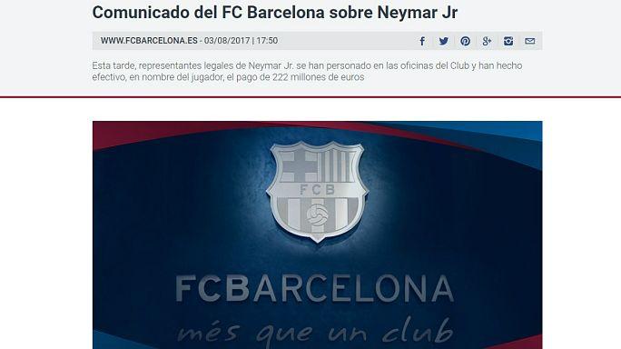 Neymar firma por cinco temporadas con el París Saint Germain