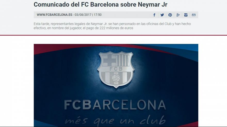 Neymar al PSG, ora è ufficiale