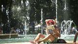 Tombol a hőség Budapesten
