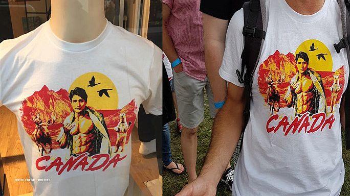 Virales T-Shirt: Justin Trudeau oben ohne - 100% Kanada?