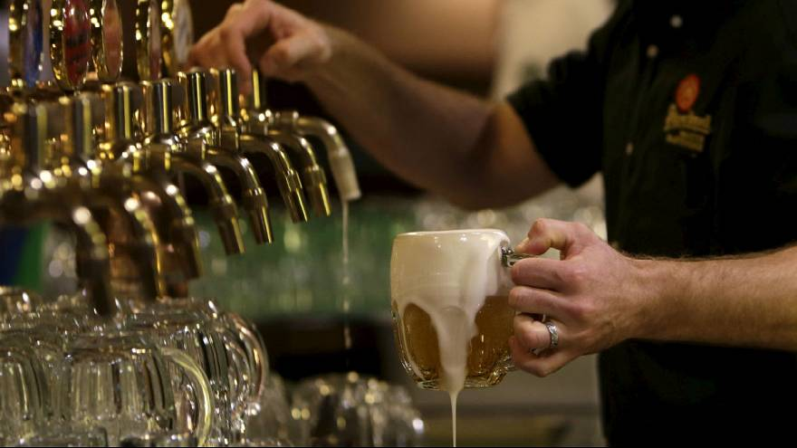 Who are among the biggest beer drinkers in Europe?