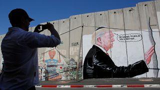 Bethlehem: Trump auf der Mauer