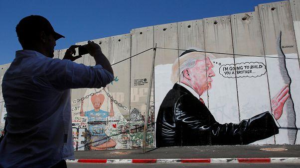 Trump karikatúrája Betlehemben
