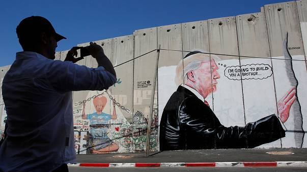 Trump no muro da Cisjordânia ocupada