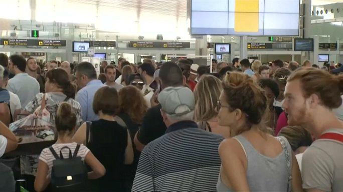 Huelga en el aeropuerto de El Prat de Barcelona