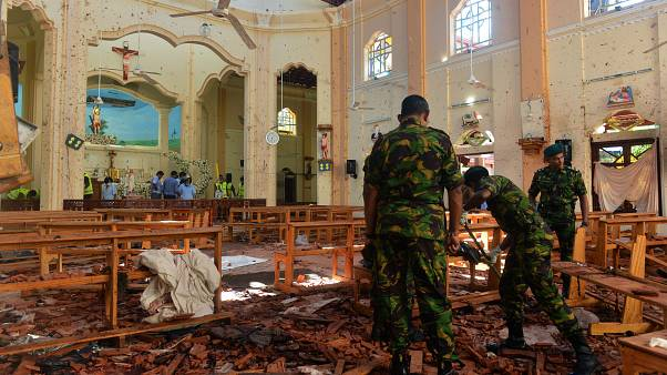 Image: The interior of St. Sebastian's Church in Negombo, Sri Lanka