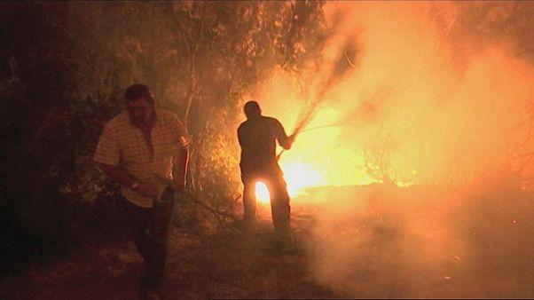 Сильнейший пожар в Галисии